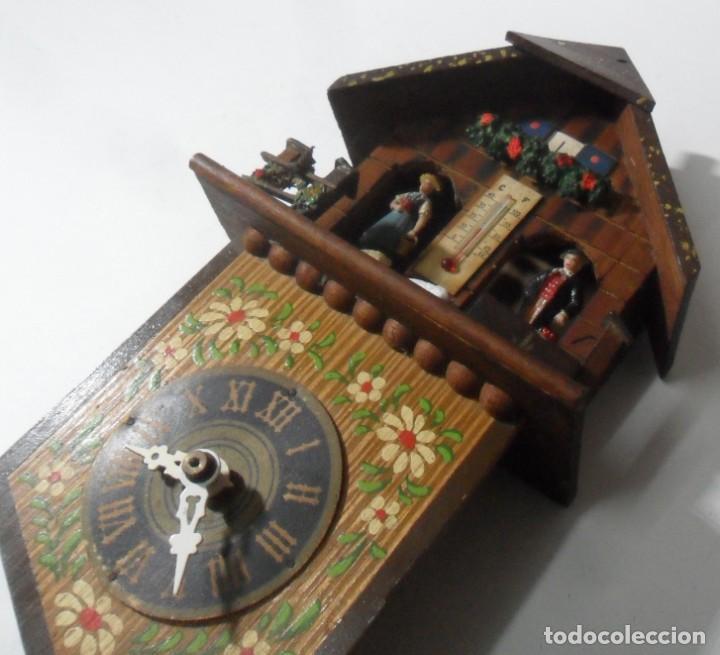 Relojes de pared: Reloj alemán mecánico Ratera con termómetro e higrómetro - Foto 4 - 159439630