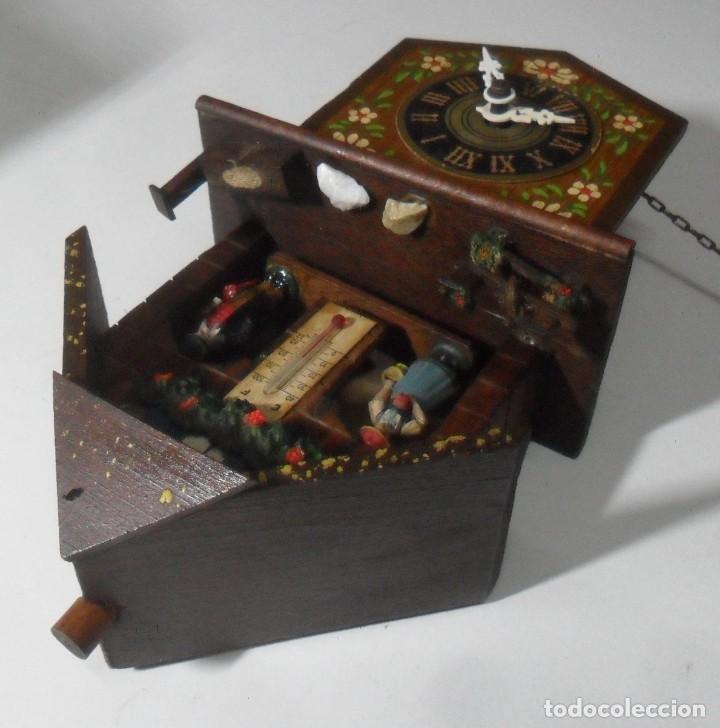 Relojes de pared: Reloj alemán mecánico Ratera con termómetro e higrómetro - Foto 5 - 159439630