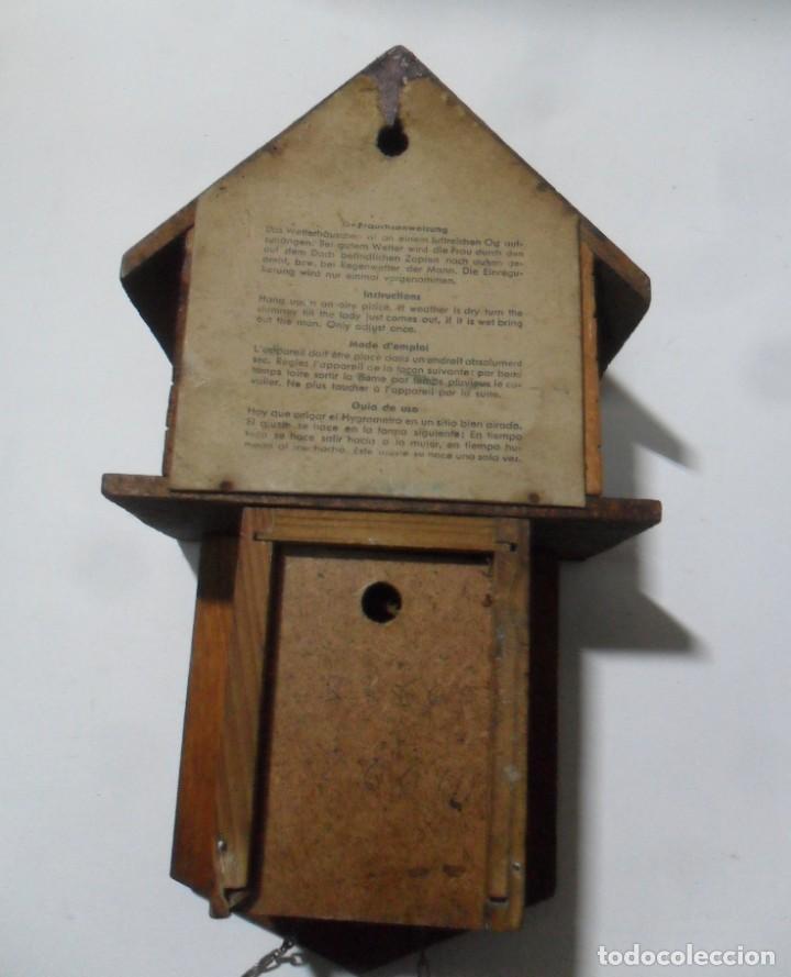 Relojes de pared: Reloj alemán mecánico Ratera con termómetro e higrómetro - Foto 6 - 159439630
