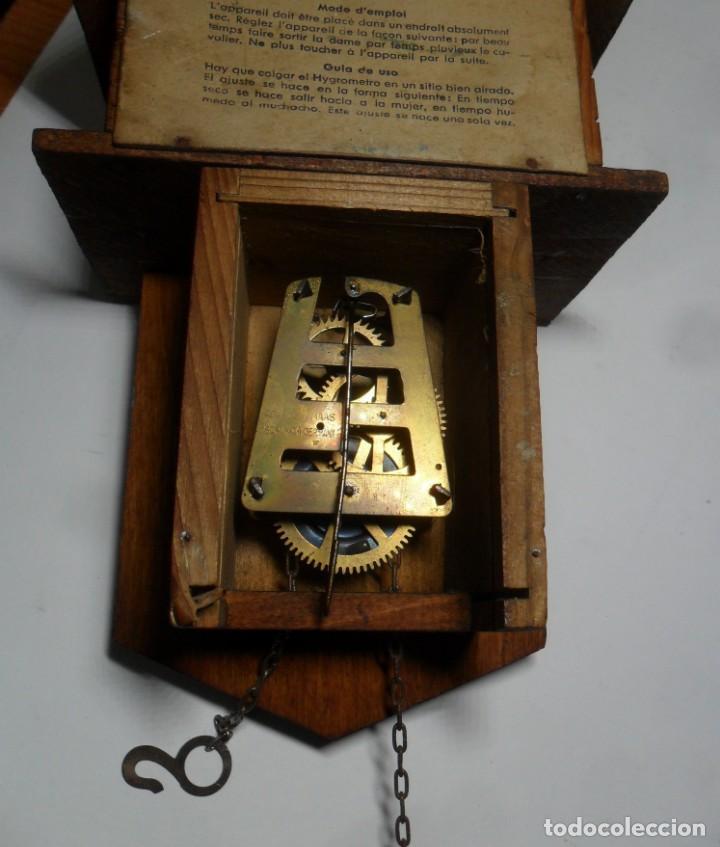 Relojes de pared: Reloj alemán mecánico Ratera con termómetro e higrómetro - Foto 8 - 159439630