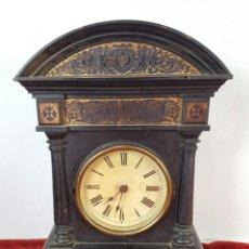 Relojes de pared: RELOJ DE PARED. MADERA. POLICROMADA. ESPAÑA. SIGLO XIX-XX. . Lote 159651722