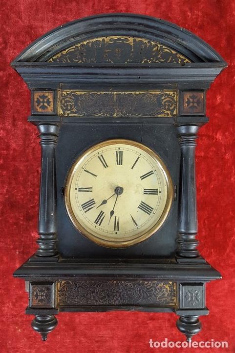 Relojes de pared: RELOJ DE PARED. MADERA. POLICROMADA. ESPAÑA. SIGLO XIX-XX. - Foto 2 - 159651722