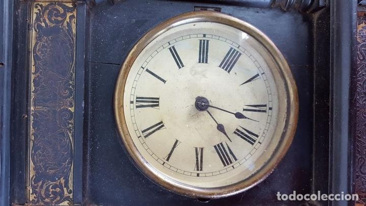 Relojes de pared: RELOJ DE PARED. MADERA. POLICROMADA. ESPAÑA. SIGLO XIX-XX. - Foto 4 - 159651722