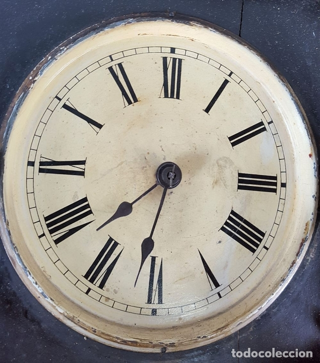 Relojes de pared: RELOJ DE PARED. MADERA. POLICROMADA. ESPAÑA. SIGLO XIX-XX. - Foto 5 - 159651722