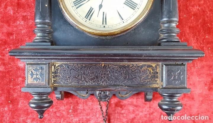 Relojes de pared: RELOJ DE PARED. MADERA. POLICROMADA. ESPAÑA. SIGLO XIX-XX. - Foto 13 - 159651722