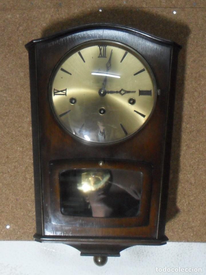 RELOJ CARRILLON DE PARED HAID HERMLE * FUNCIONA (Relojes - Pared Carga Manual)