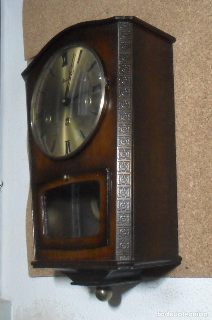 Relojes de pared: RELOJ CARRILLON DE PARED HAID HERMLE * FUNCIONA - Foto 4 - 160113434