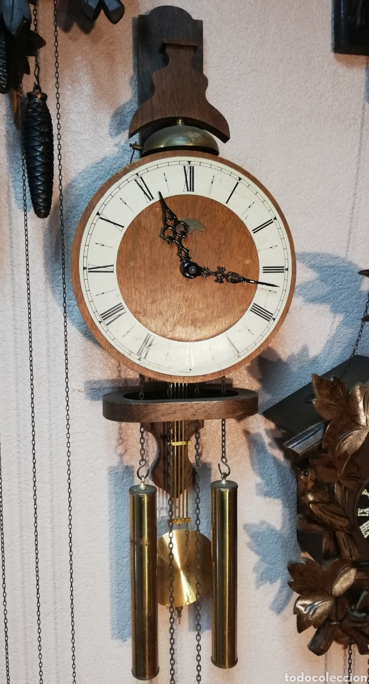GRAN RELOJ HOLANDÉS DE PRIMERA MITAD DEL SXX. WARMINK. GRAN ESTADO (Relojes - Pared Carga Manual)