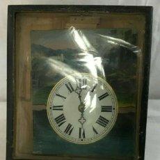 Relojes de pared: ANTIGUO RELOJ RATERA DE LA SELVA NEGRA AÑO 1850- FRONTAL PINTADO- MUY BUEN ESTADO. Lote 160270250