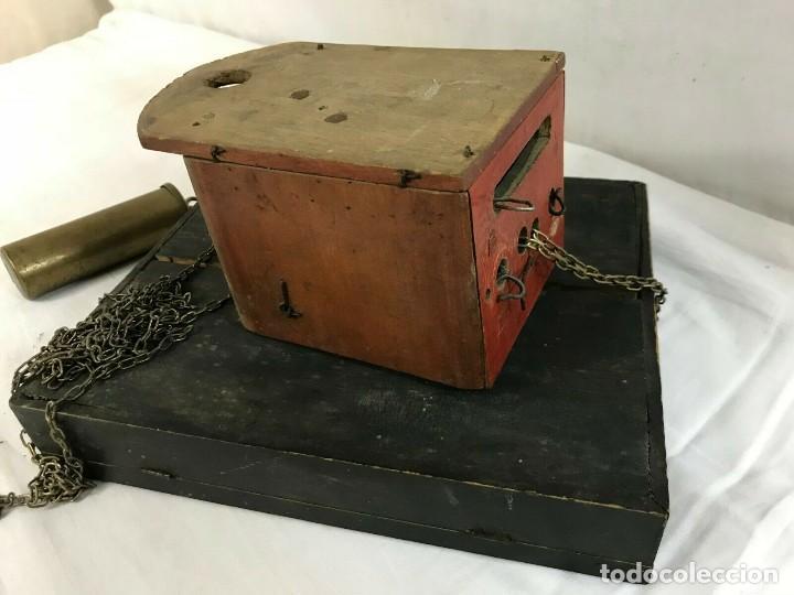 Relojes de pared: antiguo reloj ratera de la selva negra año 1850- frontal pintado- muy buen estado - Foto 5 - 160270250