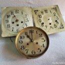 Relojes de pared: LOTE DE 3 RELOJES ANTIGUOS PARED MECANICOS MAQUINARIAS PARA RESTAURAR. Lote 160578942