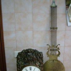 Relojes de pared: ¡¡GRANDISIMA OFERTA!!!!ANTIGUO RELOJ MOREZ DE PESAS PENDULO DE LIRA AÑO 1870- LOTE 172. Lote 160592998