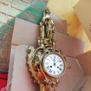Relojes de pared: IMPRESIONANTE RELOJ CARTEL DE BRONCE 80CM FRANCIA SIGLO XIX. Lote 160738733