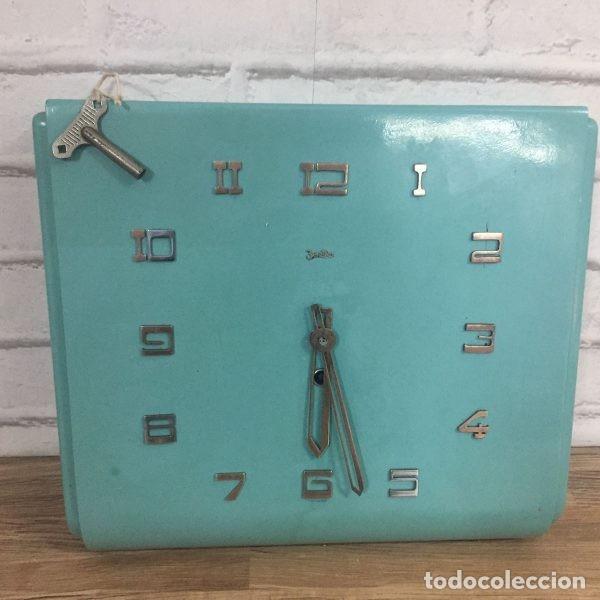 Relojes de pared: Reloj industrial de pared ZENTRA Alemania años 60 - Foto 3 - 102802298