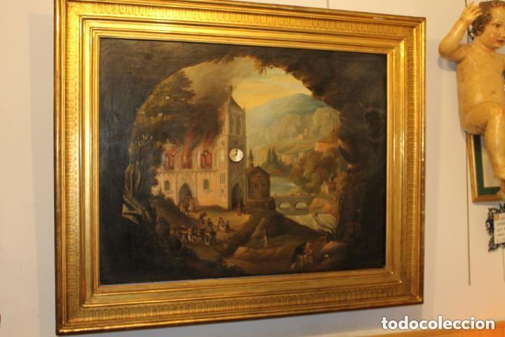 CUADRO RELOJ HACIA 1820, FRANCÉS, CON AUTÓMATAS Y CINCO MAQUINARIAS (Relojes - Pared Carga Manual)
