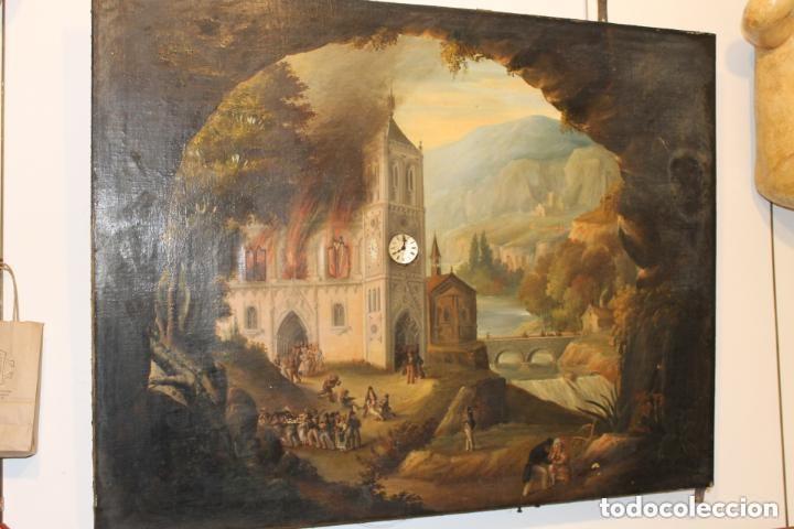 Relojes de pared: CUADRO RELOJ HACIA 1820, FRANCÉS, CON AUTÓMATAS Y CINCO MAQUINARIAS - Foto 2 - 160985422