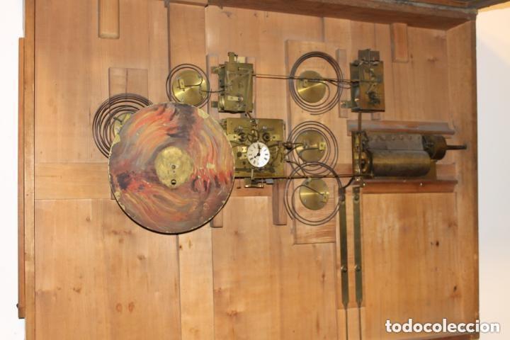 Relojes de pared: CUADRO RELOJ HACIA 1820, FRANCÉS, CON AUTÓMATAS Y CINCO MAQUINARIAS - Foto 3 - 160985422