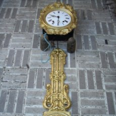 Relojes de pared: RELOJ DE PENDULO REAL. Lote 161583965