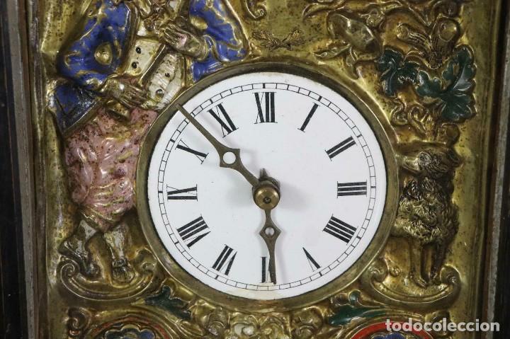 Relojes de pared: ¡¡gran oferta!!!ANTIGUO RELOJ RATERA SELVA NEGRA-FRONTAL LATON MUSICOS BUEN ESTADO-1860-lote 185 - Foto 3 - 161816774