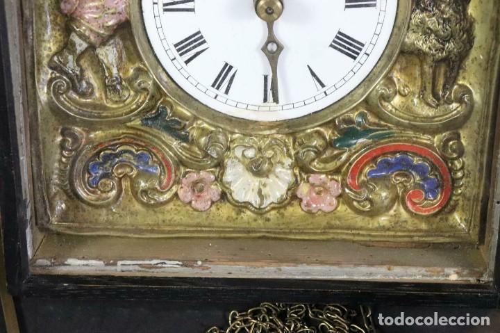 Relojes de pared: ¡¡gran oferta!!!ANTIGUO RELOJ RATERA SELVA NEGRA-FRONTAL LATON MUSICOS BUEN ESTADO-1860-lote 185 - Foto 4 - 161816774