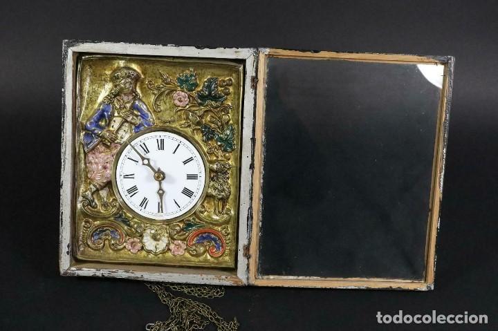 Relojes de pared: ¡¡gran oferta!!!ANTIGUO RELOJ RATERA SELVA NEGRA-FRONTAL LATON MUSICOS BUEN ESTADO-1860-lote 185 - Foto 5 - 161816774