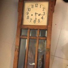 Relojes de pared: RELOJ PARED DE MADERA. Lote 163962573