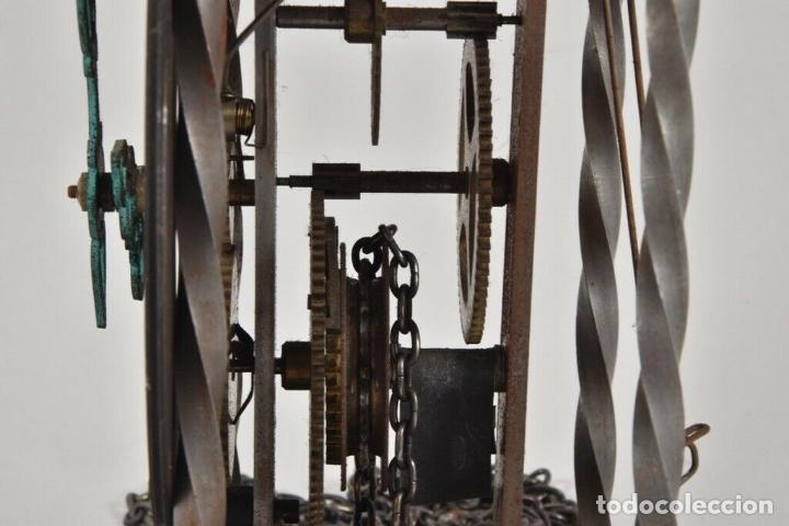 Relojes de pared: ANTIGUO RELOJ ESQUELETO EN HIERRO Y LATÓN FUNCIONANDO - Foto 7 - 166211618