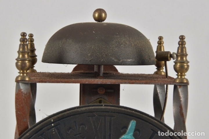 Relojes de pared: ANTIGUO RELOJ ESQUELETO EN HIERRO Y LATÓN FUNCIONANDO - Foto 10 - 166211618