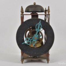 Relojes de pared: ANTIGUO RELOJ ESQUELETO EN HIERRO Y LATÓN FUNCIONANDO 890,00 €. Lote 212643481