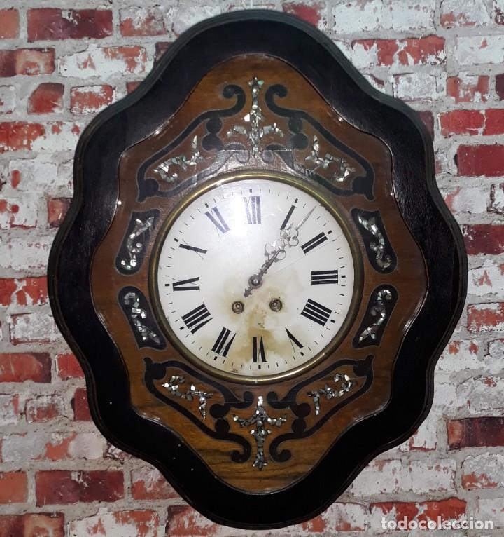 Relojes de pared: RELOJ DE PARED SIGLO XIX FUNCIONA - Foto 2 - 166225649