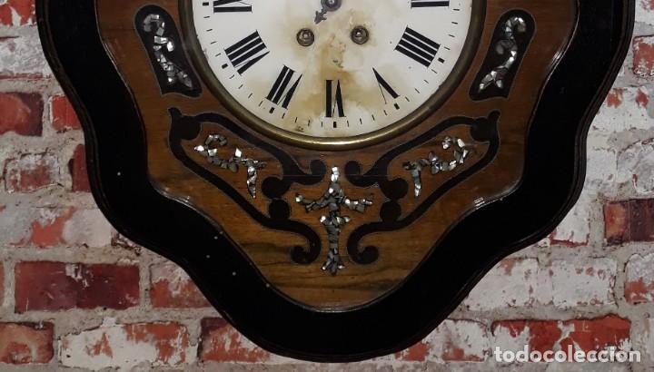 Relojes de pared: RELOJ DE PARED SIGLO XIX FUNCIONA - Foto 3 - 166225649