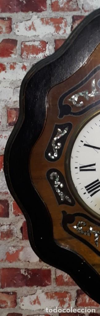 Relojes de pared: RELOJ DE PARED SIGLO XIX FUNCIONA - Foto 4 - 166225649
