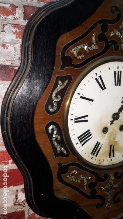 Relojes de pared: RELOJ DE PARED SIGLO XIX FUNCIONA - Foto 5 - 166225649