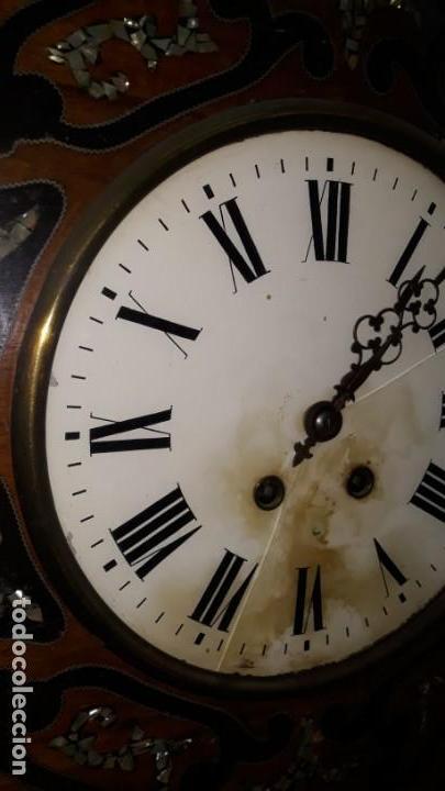 Relojes de pared: RELOJ DE PARED SIGLO XIX FUNCIONA - Foto 6 - 166225649