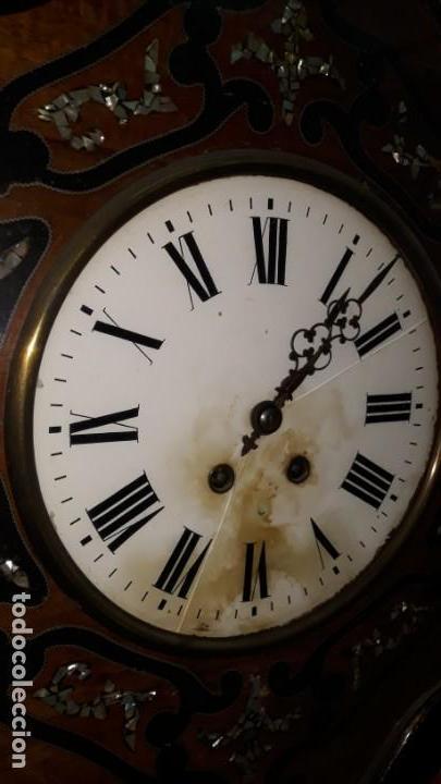 Relojes de pared: RELOJ DE PARED SIGLO XIX FUNCIONA - Foto 7 - 166225649