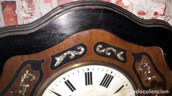 Relojes de pared: RELOJ DE PARED SIGLO XIX FUNCIONA - Foto 8 - 166225649