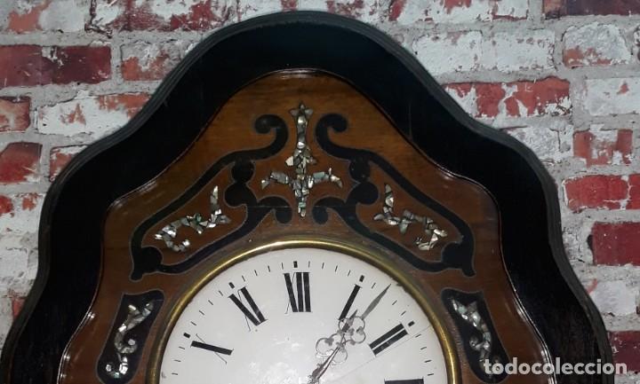 Relojes de pared: RELOJ DE PARED SIGLO XIX FUNCIONA - Foto 9 - 166225649