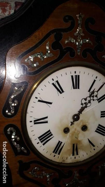 Relojes de pared: RELOJ DE PARED SIGLO XIX FUNCIONA - Foto 10 - 166225649