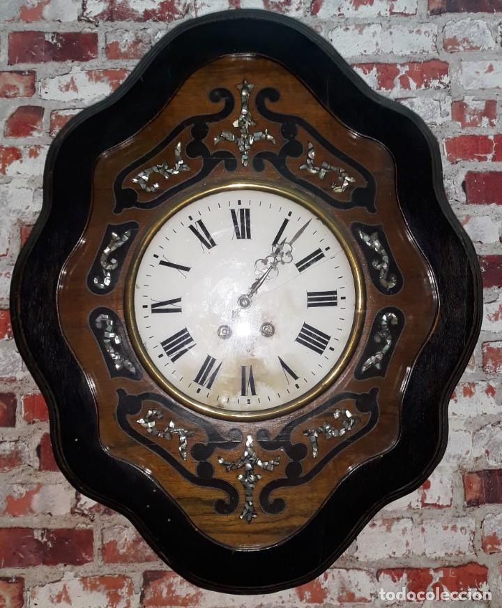 RELOJ DE PARED SIGLO XIX FUNCIONA (Relojes - Pared Carga Manual)