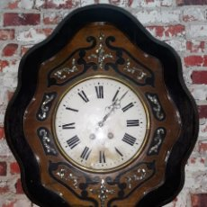 Relojes de pared: RELOJ DE PARED SIGLO XIX FUNCIONA. Lote 166225649