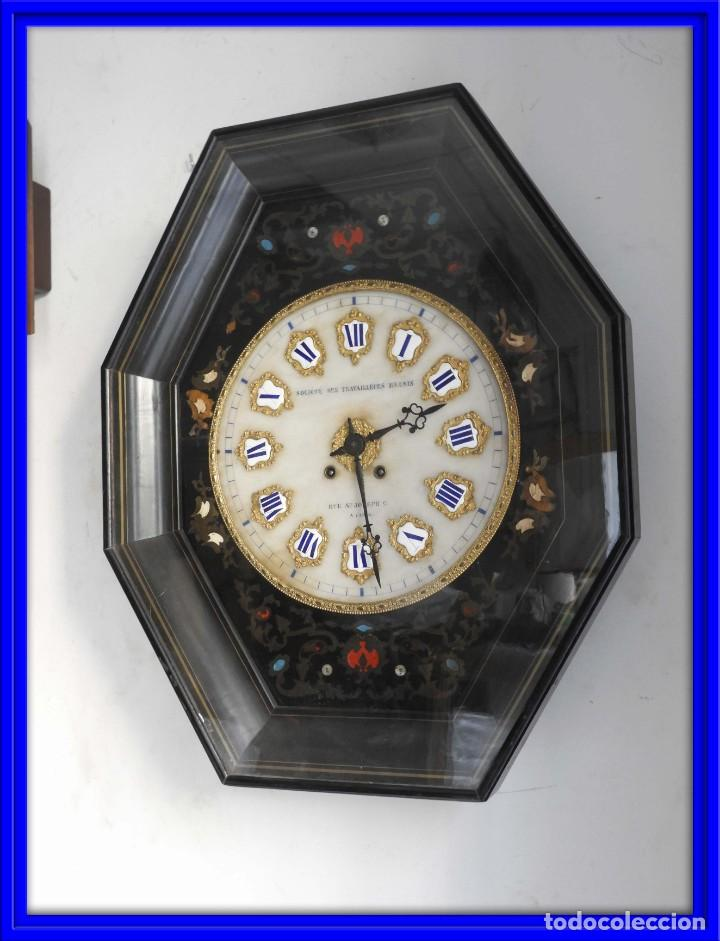 RELOJ DE PARED DE MARQUETERIA BOULLE NAPOLEON III (Relojes - Pared Carga Manual)