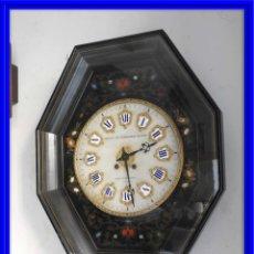 Relojes de pared: RELOJ DE PARED DE MARQUETERIA BOULLE NAPOLEON III. Lote 166355534