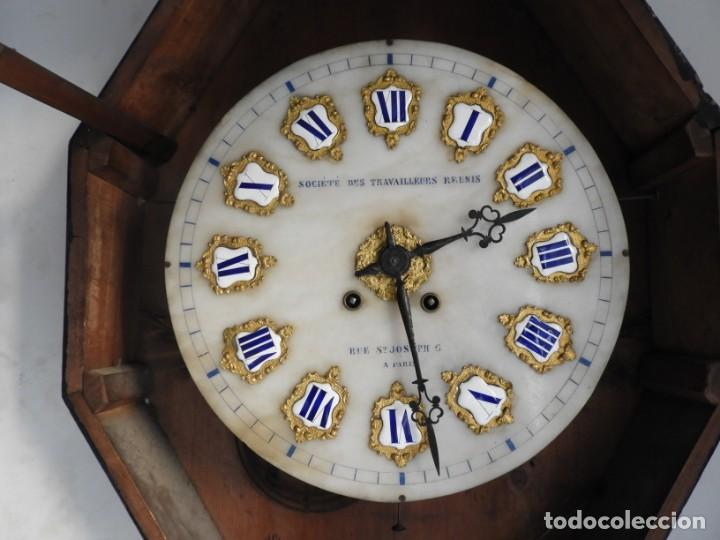 Relojes de pared: RELOJ DE PARED DE MARQUETERIA BOULLE NAPOLEON III - Foto 6 - 166355534