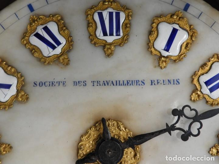 Relojes de pared: RELOJ DE PARED DE MARQUETERIA BOULLE NAPOLEON III - Foto 7 - 166355534