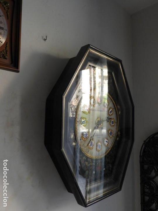 Relojes de pared: RELOJ DE PARED DE MARQUETERIA BOULLE NAPOLEON III - Foto 9 - 166355534
