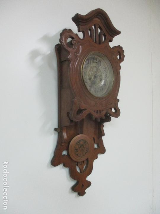Relojes de pared: Precioso Reloj de Pared, Modernista - Marca CB, Universal Dong - Madera Roble - Completo - Funciona - Foto 2 - 167823308