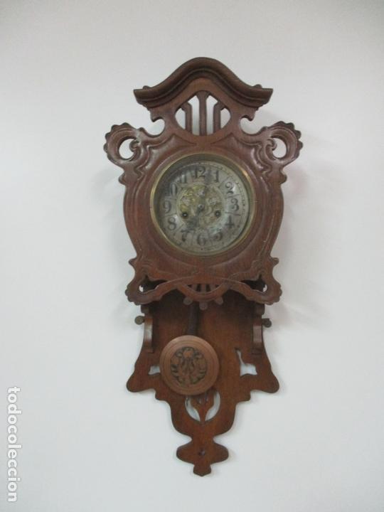 Relojes de pared: Precioso Reloj de Pared, Modernista - Marca CB, Universal Dong - Madera Roble - Completo - Funciona - Foto 4 - 167823308