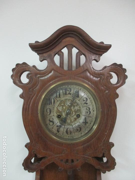 Relojes de pared: Precioso Reloj de Pared, Modernista - Marca CB, Universal Dong - Madera Roble - Completo - Funciona - Foto 5 - 167823308