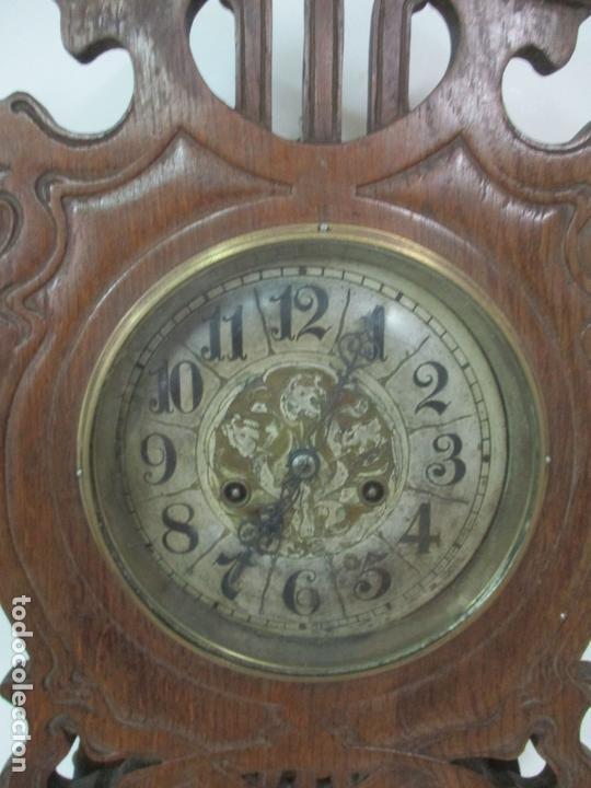Relojes de pared: Precioso Reloj de Pared, Modernista - Marca CB, Universal Dong - Madera Roble - Completo - Funciona - Foto 6 - 167823308