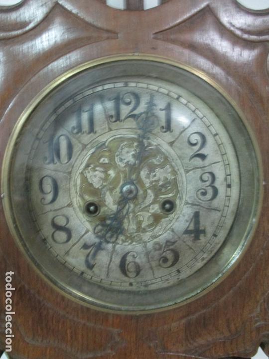 Relojes de pared: Precioso Reloj de Pared, Modernista - Marca CB, Universal Dong - Madera Roble - Completo - Funciona - Foto 7 - 167823308